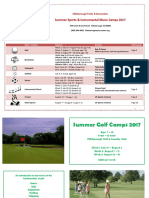 Summer Sports Camp Brochure 2017