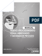 Manual Procedimiento Penal Abreviado y Acusador Privado 24-02-2017