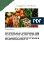 Alimentele Necesare Zilnic Pentru Prevenirea Dementei
