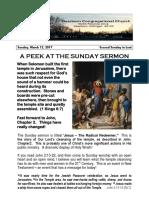 Pastor Bill Kren's Newsletter - March 12, 2017