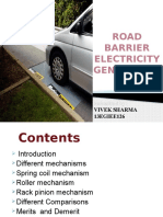 road barrier electricity  generation