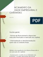 Financiamento Da Atividade Empresarial e Garantias