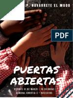 Cartel Puertas Abiertas 2017