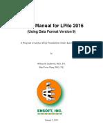 LPile 2016 User Manual