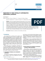 Application of Data Mining in Multiobjective Optimization Problems