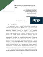 Democracia participativa y acción/re-solución de problemas sociales