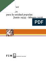 Jose Diaz - Discursos Para La Unidad Popular