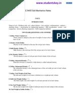 CE6405 Soil Mechanics Notes