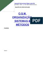 6922843 Apostila Administracao Organizacao Sistemas E Metodos
