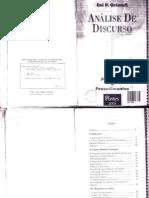 Análise do Discurso - Orlandi