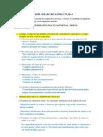 Examen y Trabajo Final Diseño Estructural Computarizado