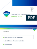 Cleantech Open Innovation - Update July 9th