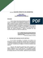 EPIO 38 - La Inv de Operaciones en Argentina