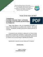 Carlos Augusto Leon Modelo de Oficio Consejo Comunal