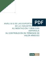 ANÁLISIS DE LAS EXPORTACIONES  DE LA INDUSTRIA DE LA  ALIMENTACIÓN Y BEBIDAS  ESPAÑOLA