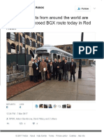 BQX 3/7/17 - International Experts Pay Homage to Original Red Hook Streetcar, Built by B.H.R.A., 1995