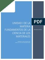 Unidad I de Fundamentos de Los Materiales