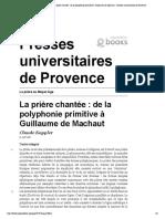 La prière au Moyen Âge -...versitaires de Provence