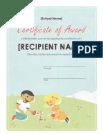 Elementary School Certificate