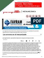 Los errores en el mecanizado - Metalmecánica.pdf