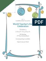 Sample Invitation School Event