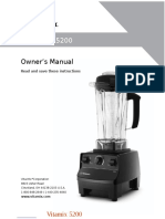 Vitamix 5200 Owner's Manual