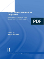 From Bioeconomics to Degrowth