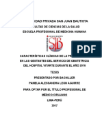 Características clínicas de la preeclampsia