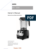 Vitamix 5300 Owner's Manual