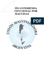 Adición o Enmienda Constitucional por Malvinas-.-..