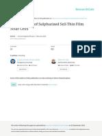 Development of Sulphurized SnS Thin Film Solar Cells
