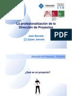 La profesionalización de la gestión de proyectos.pdf