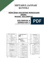 Rencana Kegiatan Mingguan (RKM) Kelompok A SemesteR 2.doc