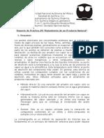 Reporte Práctica #9 (Q. Orgánica I)