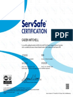 servsafe food protection management certification