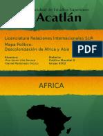 Mapa Descolonizacion Africa