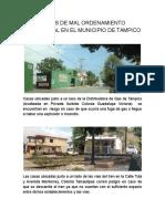 Casos de Mal Ordenamiento Territorial en El Municipio de Tampico