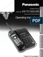 Panasonic KX-TC1222JXB Manual