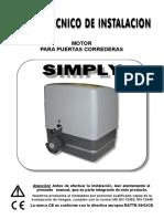 Manual Instalacion 600 Kg