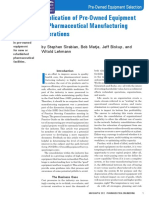 Application of Pre-Owned Equipment in Pharmaceutical Manufacturing Operations