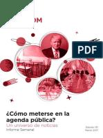 Labcom - Informe Semanal de Agenda Pública - Marzo 17, Semana 1