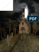 3D spooky graveyard