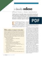 Kremmer, Michael. Jayachandran, Seema. La Deuda Odiosa. 2002. Español, 4 Páginas