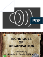 PA 9 Office Organisation (Techniques of Organisation)