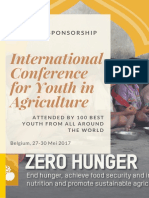 Cover Proposal Sponsor International Conference for Youth in Agriculture