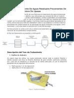 Planta de Tratamiento de Aguas Residuales Provenientes de La Industria Productora de Lipasas