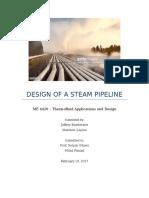 homework 2 - design of a steam pipe