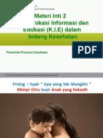 Komunikasi Informasi Dan Edukasi (K.I.E) Dalam Bidang Kesehatan