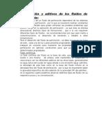 Composición y Aditivos de Los Fluidos de Perforación