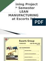 Lean Manufacturing at Escorts Ltd.